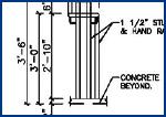 Steel Detailing,  Shop Drawings,  Steel Stair Handrail Detailing Service